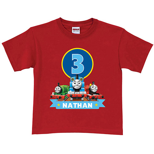 Personalized Thomas & Friends Red Birthday Boys' T-Shirt