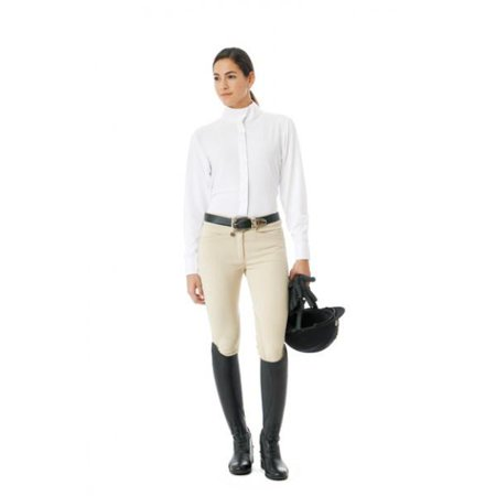 Ovation Celebrity Slim Euro Seat Front Zip Knee Patch Breeches - Ladies Regular - 34 / Show (Ovation Celebrity Slim Secret Full Seat Breeches)