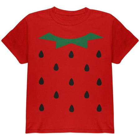 Halloween Strawberry Costume Youth T-Shirt