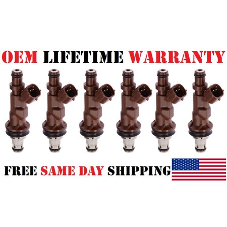 x6 BRAND NEW OEM DENSO Fuel Injectors for 1999-2004 Toyota Tacoma/4Runner/Tundra 3.4L V6 (P# 23250-62040)