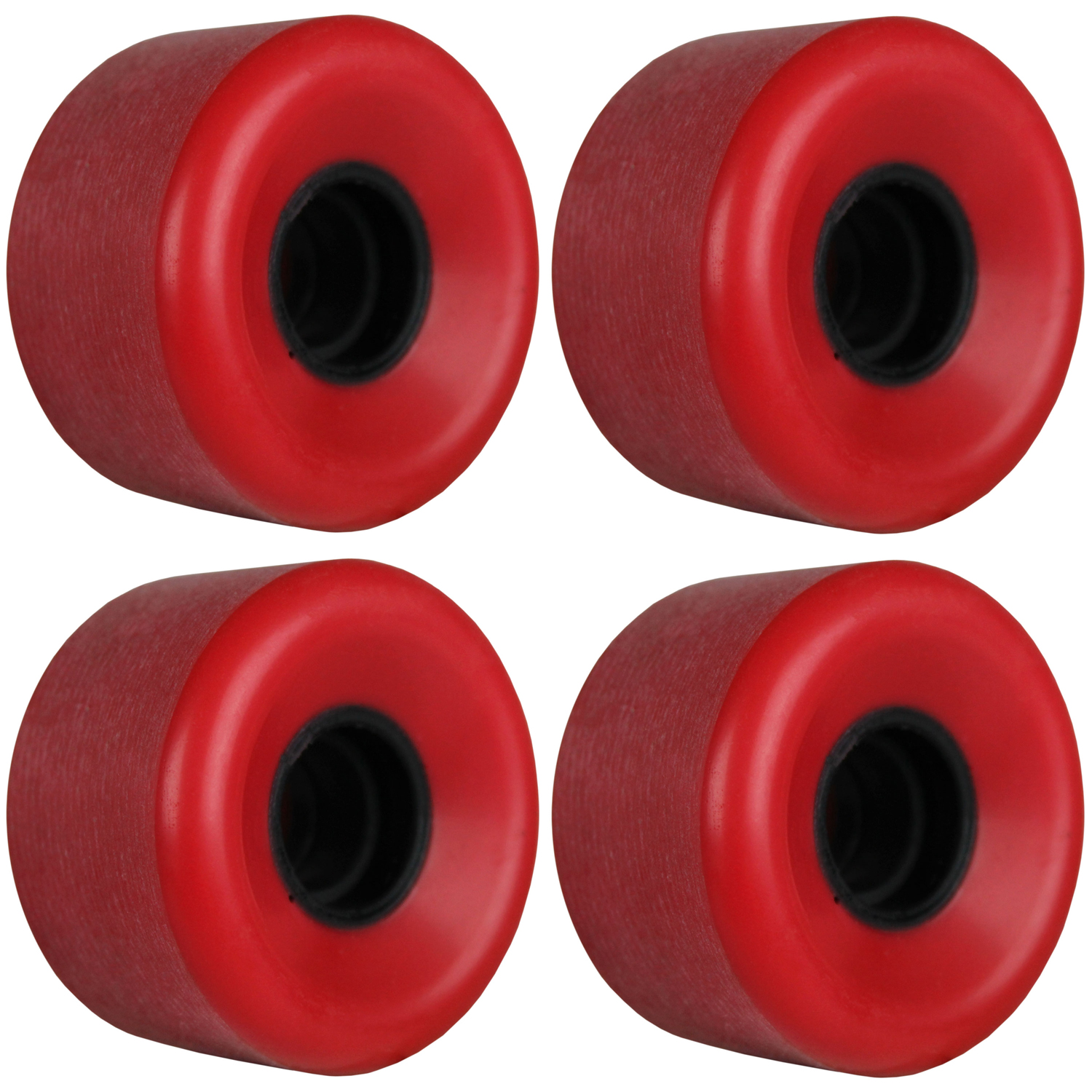 Longboard Skateboard Cruiser Wheels 62mm Shaved Red USA Made 95A