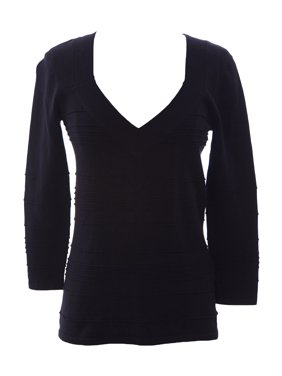 12eba32c7f9d9 Product Image August Silk Women s Squared V-Neck Ribbed Sweater