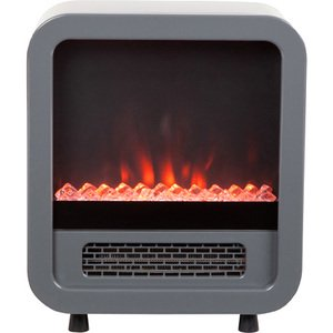 Fire Sense Skyline 1500 W Indoor Electric LED Faux Fireplace Stove Space Heater For Home Office Room ()