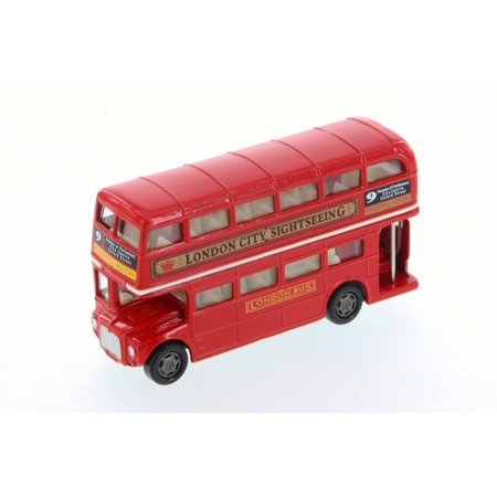 London Routemaster Double Decker Bus, Red - Motor Max 76002D - Diecast (No Box) (Brand New, but NOT IN