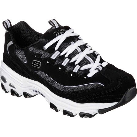 1f68d99ae2bc Skechers - Skechers Womens D Lites Low Top Lace Up Fashion Sneakers -  Walmart.com