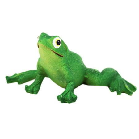 Garden Frog Figurine: Legs Spread Wide and Far