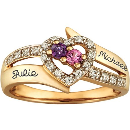 Wedding Ring With Family Birthstones