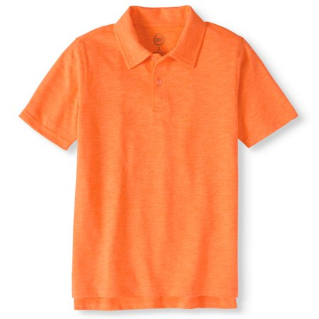 Boys' Short Sleeve Slub Jersey Polo