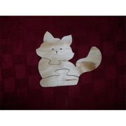 Fine Crafts 1347PUZ Wooden cat shaped jigsaw puzzle