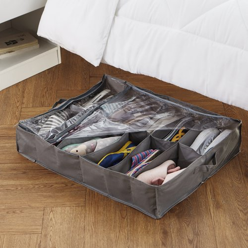 Rebrilliant College Shoe Holder Fabric Underbed Storage