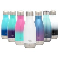 Simple Modern 17 Ounce Wave Water Bottle - Stainless Steel Double Wall Vacuum Insulated Reusable Leakproof Ombre: Pacific Dream