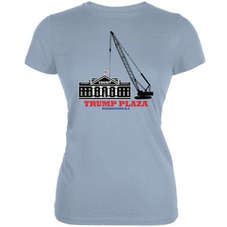 Election 2020 Trump Plaza Washington DC Light Blue Juniors Soft T-Shirt -