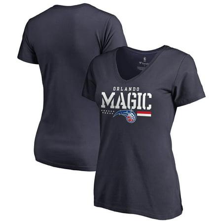 Orlando Magic Fanatics Branded Women's Hoops For Troops V-Neck T-Shirt - Navy
