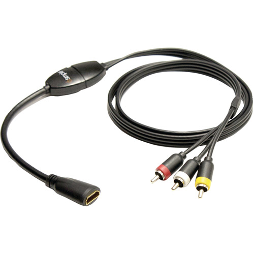 iSimple ISHD01 MediaLinx HDMI-to-Composite RCA A/V Cable, 4'