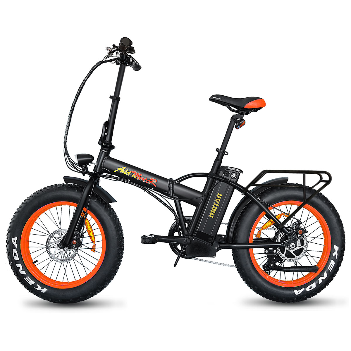 "Addmotor MOTAN Electric Bicycle Folding Bike 20"" Fat Tire E-Bikes 500W 48V Mountain Snow Bicycle M-150 Collapsible Bike"