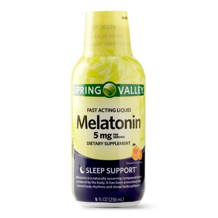 - Spring Valley Melatonin Fast Acting Liquid, 8 Oz