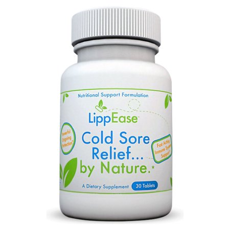 LippEase Natural Cold Sore & Herpes Treatment Supplement - Prevent & Speed up Cold Sore, Herpes or Fever Blister Outbreaks - Immune System Support