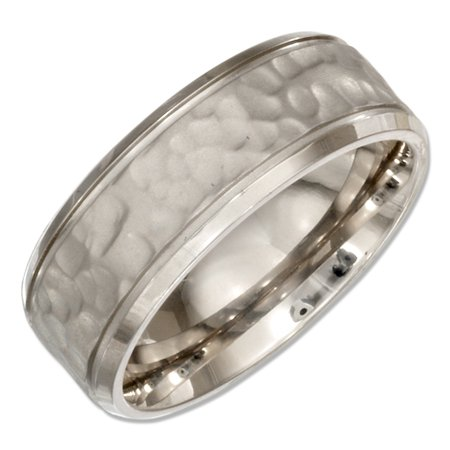 Mens Hammered Wedding Bands | Stainless Steel 8mm Mens Hammered Wedding Band Ring Walmart Com