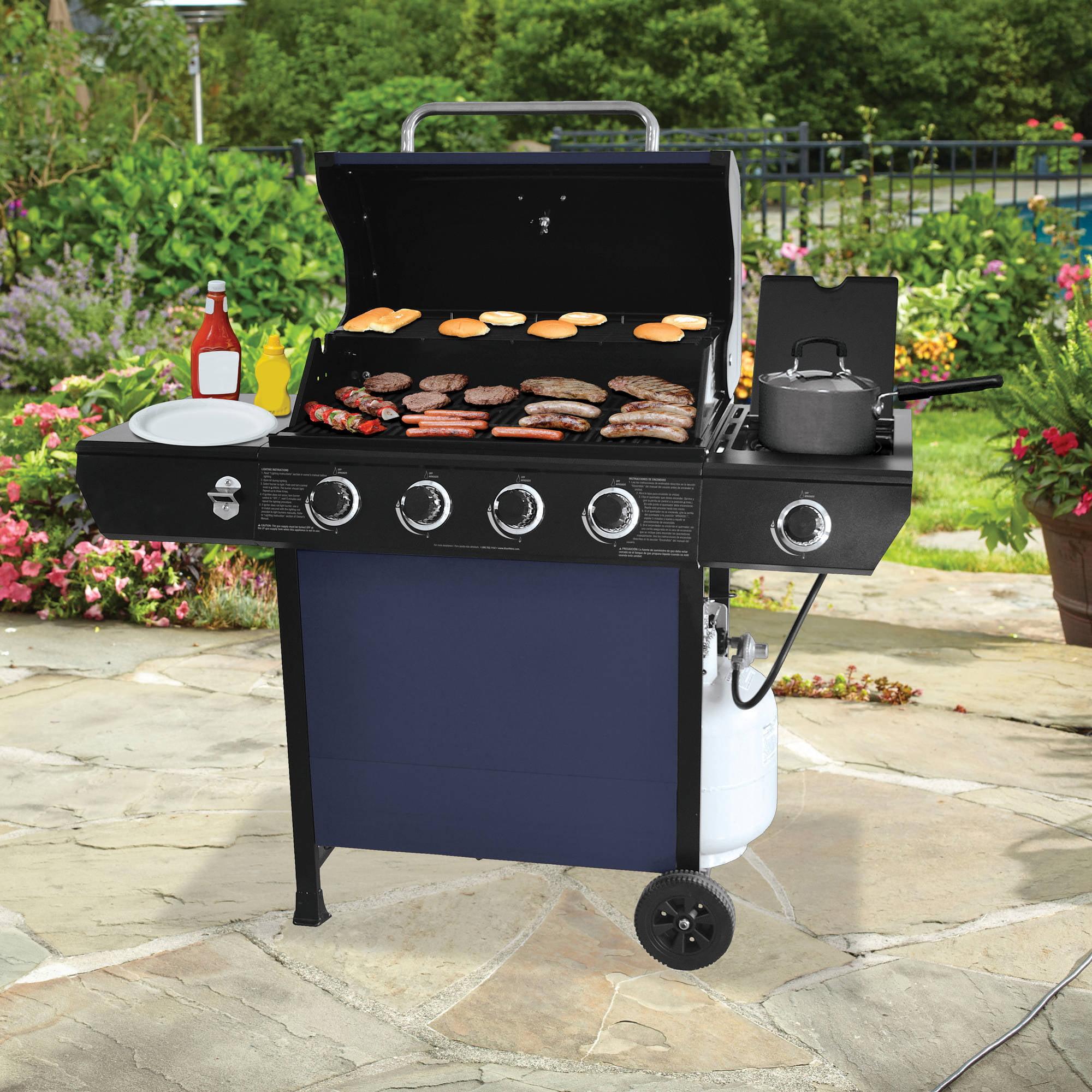 Walmart Backyard Grill 4 Burner backyard grill 4-burner gas grill, blue - walmart