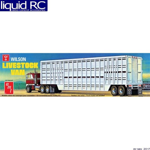 Click here to buy AMT 1106 1 25 Wilson Livestock Van Trailer by Round 2, LLC.