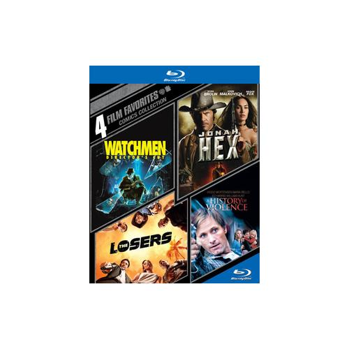 4 Film Favorites: Comics Collection Watchmen   Jonah Hex   The Losers   A History Of Violence (Blu-ray)... by WARNER HOME VIDEO
