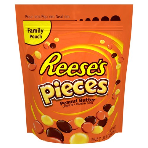 Reese's Pieces Peanut Butter Candy, 19 oz