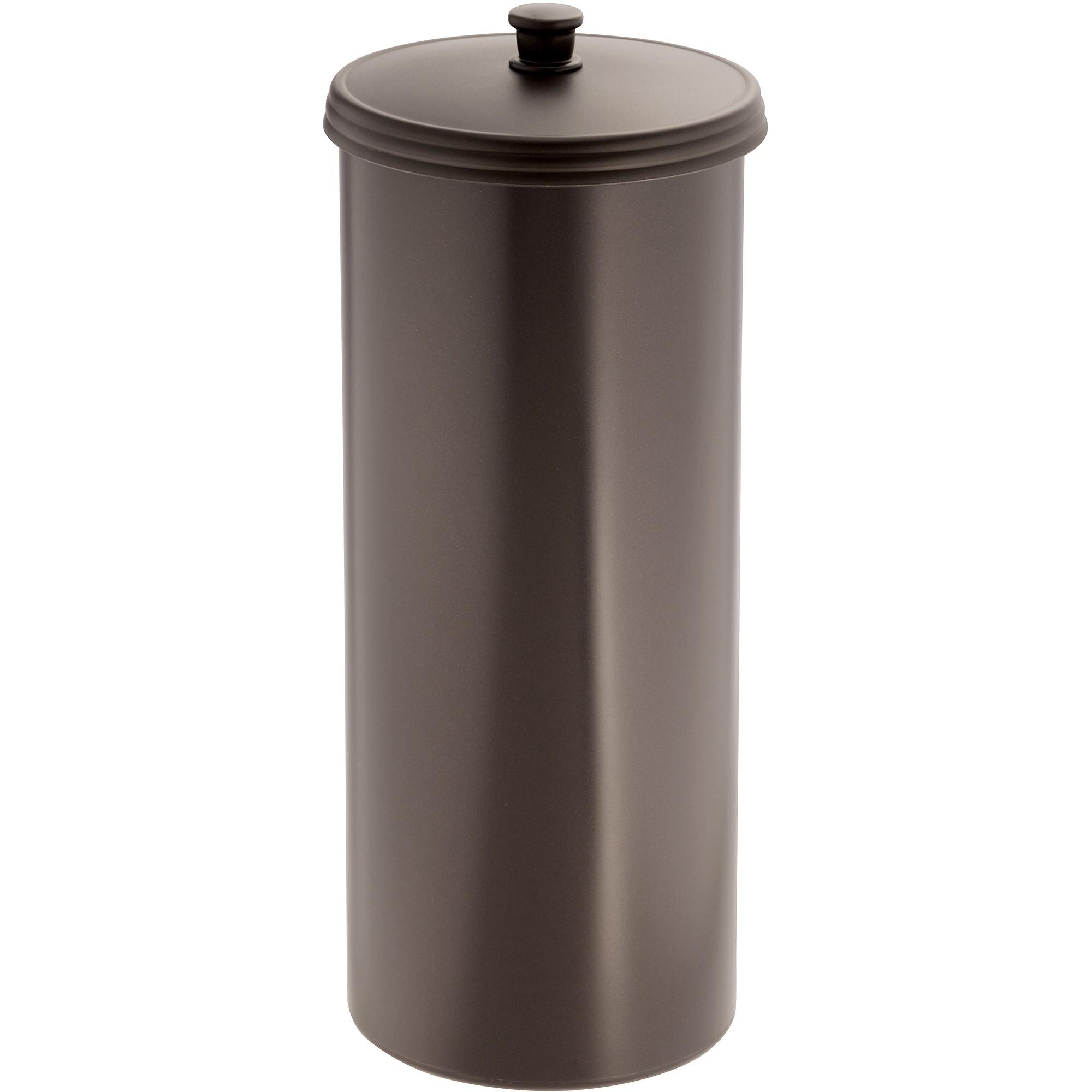 InterDesign Kent Bathware, Free Standing Toilet Paper Roll Holder for Bathroom Storage, Bronze