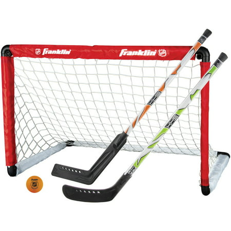 Franklin Sports Insta-Set Hockey Goal, 2 Sticks, and Ball Set