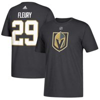 Vegas Golden Knights Marc-Andre Fleury Adidas NHL Silver Player Name    Number T-Shirt 94cc0e2f5