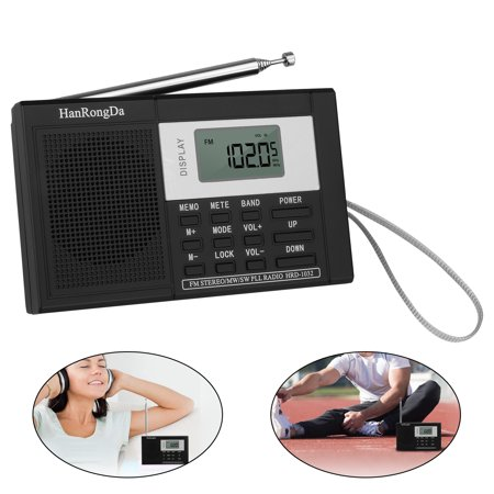 Portable AM/FM/SW Stereo Radio W/ Sleep Timer Bass Sound MP3 Player TF (Halloween Sounds Internet Radio)