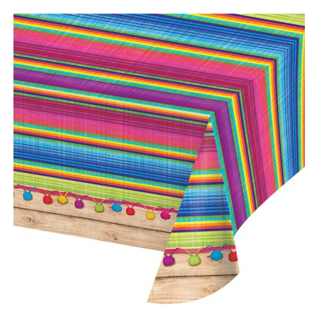 Creative Converting Serape Banquet Plastic Table Cover (Multipack of 3)](Serape Tablecloth)