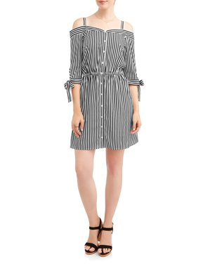 f3ef6d5a4293 Product Image Women's Stripe Off the Shoulder Shirt Dress