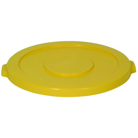 Continental Commercial Huskee 3201YW Receptacle Lid, 32 gal, Round, Yellow