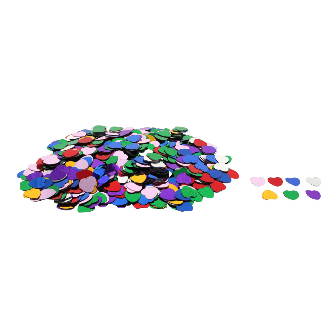 Wedding Plastic Heart Shaped DIY Confetti Table Decor Assorted Color 500 Pcs