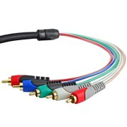 Mediabridge Component Video Cables with Audio (12 Feet) - Gold Plated RCA to RCA - Supports 1080i - (Part# 70-040-12B )