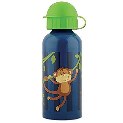 Stephen Joseph Stainless Steel Water Bottle, Boy Monkey