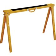 Vulcan Folding Sawhorse, 1200 Lb, 40 In H X 38-1/4 In W X 25-1/2 In D, Steel Handle, Yellow