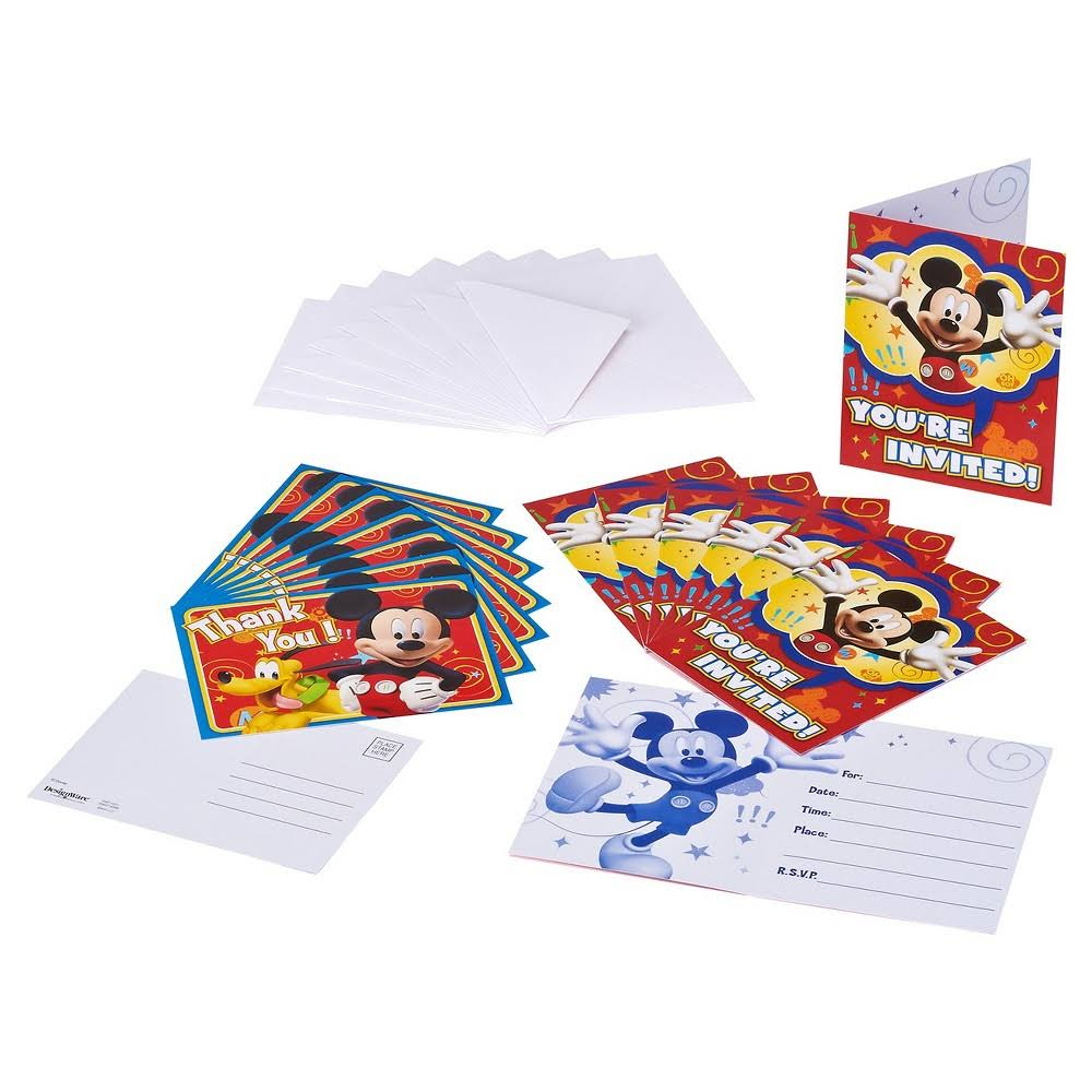 Mickey Mouse Clubhouse Party Invite and Thank You Combo, 8ct