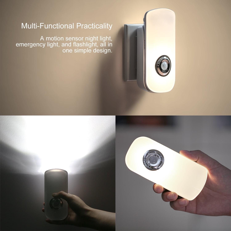 Night light with motion sensor - Etekcity Auto Led Night Light With Wireless Sensor Soft White Walmart Com