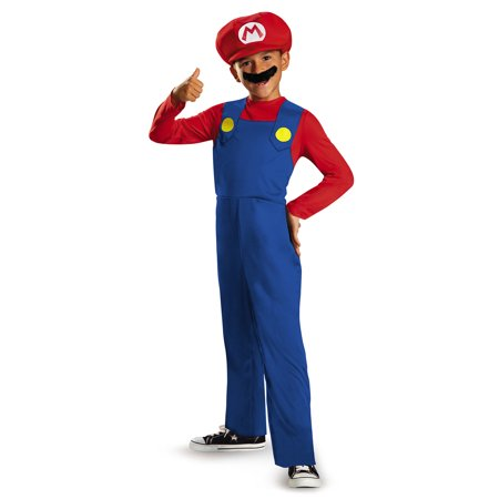 Mario Deluxe Child Costume Nintendo 73689 Size 3T-4T - Nintendo Costume