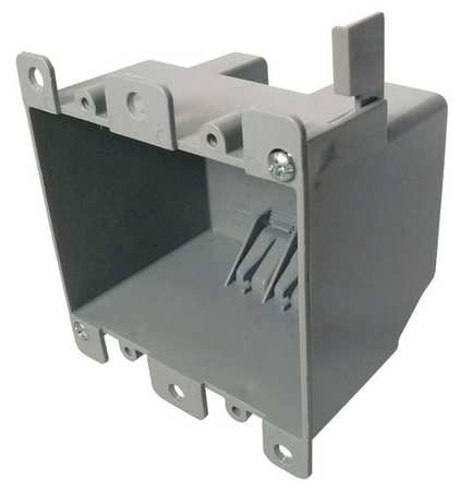 Electrical Box,2 Gang,25 cu. in.,PVC CANTEX EZ25DOR