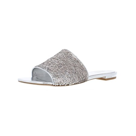 0b4bd23b0517 MICHAEL Michael Kors - MICHAEL Michael Kors Womens Shelly Metallic Sequined  Slide Sandals - Walmart.com