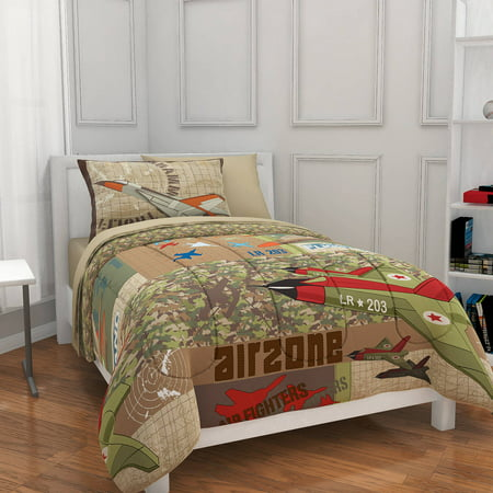 Mainstays Kids Airzone Bed in a Bag Bedding Set