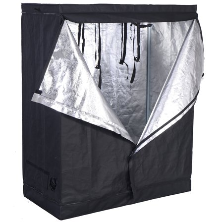 Costway Indoor Grow Tent Room Reflective Hydroponic Non Toxic Clone Hut 6 Size