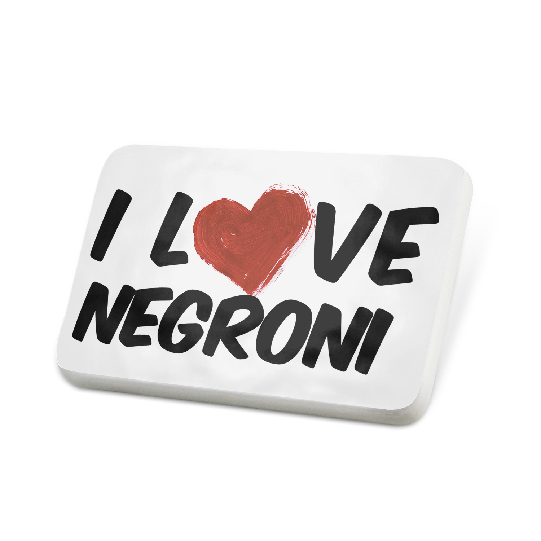 Porcelein Pin I Love Negroni Cocktail Lapel Badge – NEONBLOND