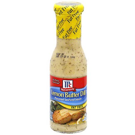 McCormick Lemon Butter Dill Fat Free Seafood Sauce, 8.7 oz (Pack of 6)