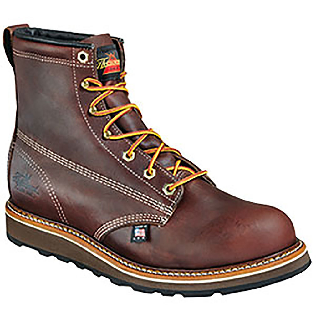 "Thorogood Men's 6"" American Heritage Dual Density Wedge Sole Work Boot - 814-4516"