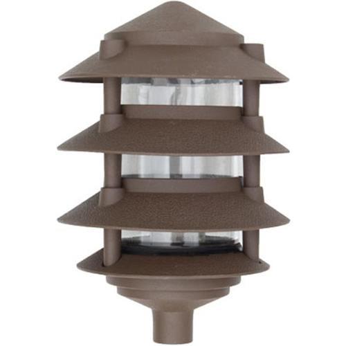 Dabmar Lighting D5200-BZ Cast Aluminum Four Tier Pagoda Light, Bronze