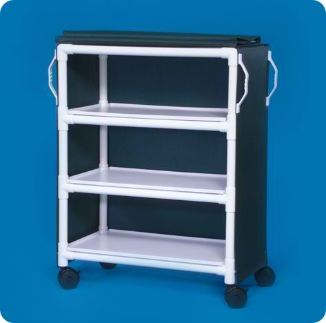 Deluxe Linen Cart with Three Shelves