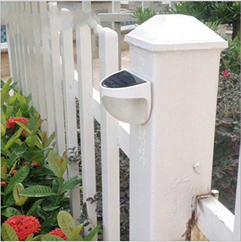 Ktaxon 2 Pack 6-LED Solar Powered Garden Security Light Outdoor Fence Wall Lamp Waterproof
